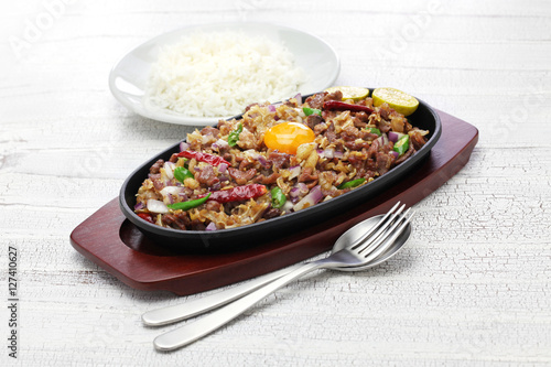 "sizzling pork sisig, filipino cuisine"" Stock photo and royalty-free ..."