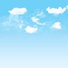 Blue sky and cloudy