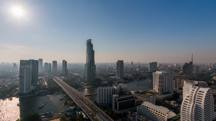 The view of Bangkok,Thailand.