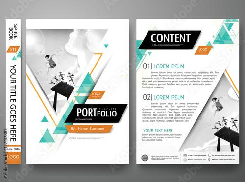Portfolio design template vector layout Minimal brochure