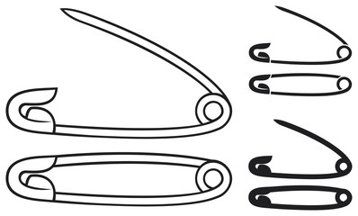 open and closed safety pin