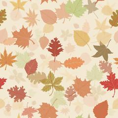 Seamless autumn leafs pattern