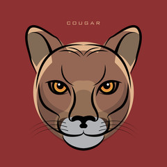 The Cougar, also known as the Puma face sign or symbol