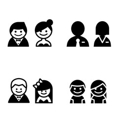 toilet icons great for any use. Vector illustration symbol set