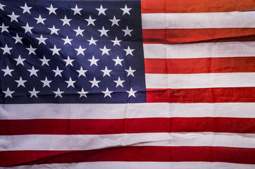 Closeup American flag