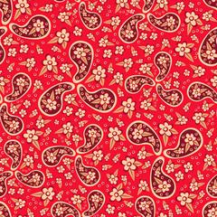 Paisley seamless pattern.Oriental decorative ornament