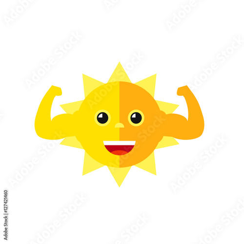 strong sun flexing muscles icon stock image and royalty free vector rh fotolia com Free Vector Silhouettes Free Mountain Vector
