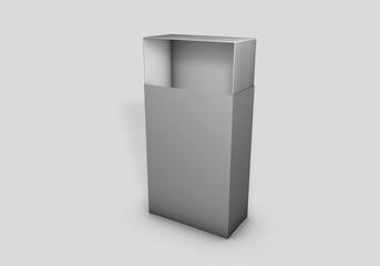 Scatola semi-aperta verticale