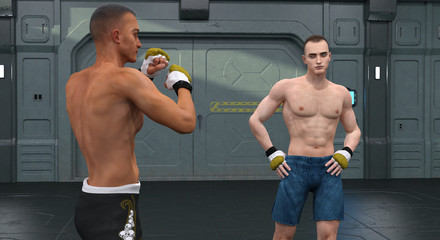 Boxers before the battle
