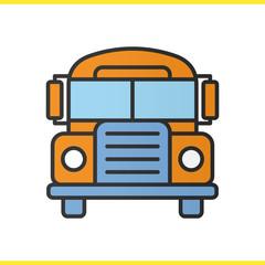 School bus color icon
