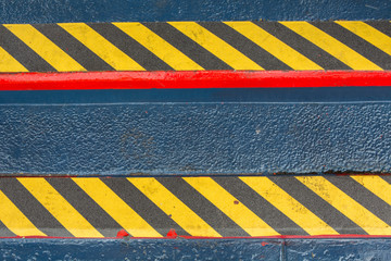 Grunge Black And Yellow Stripes Surface As Warning