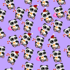 cute christmas pandas