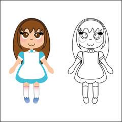 Girl japanese style cartoon
