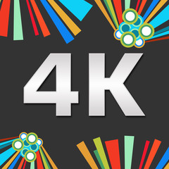 4K Dark Colorful Elements