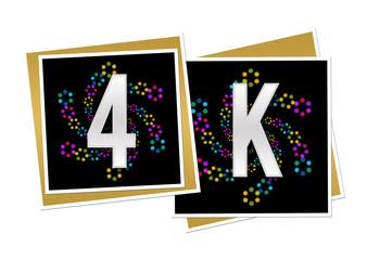 4K Dark Colorful Neon