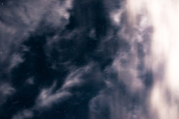 the stars among the clouds