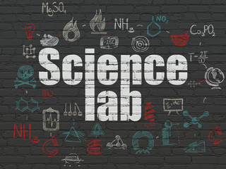 Science concept: Science Lab on wall background