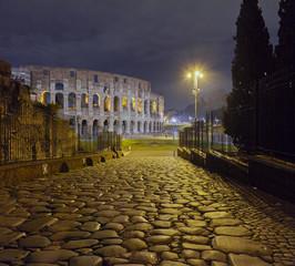 Roman Colisseum. Night view