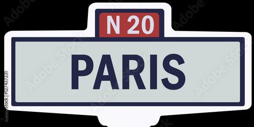 Paris ancien panneau entr e agglom ration photo libre de droits - Combien de panneau stop a paris ...