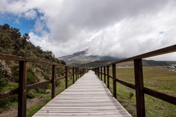 Volcano Cotopaxi National Park in Ecuador South America