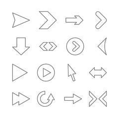 Linear arrow icons.