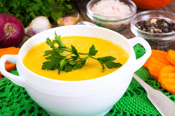 Spicy Carrot Cream Soup  Diet Food