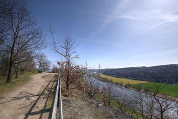 Blick von der Bosel auf die Elbe