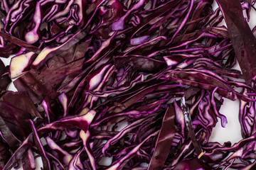 Chopped cabbage for pickling or salad