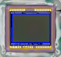 Close-up of digital camera sensor