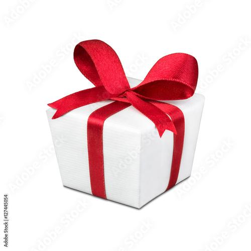 Geschenk rot weiß mit Schleife