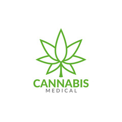 cannabis concept logo icon vector template