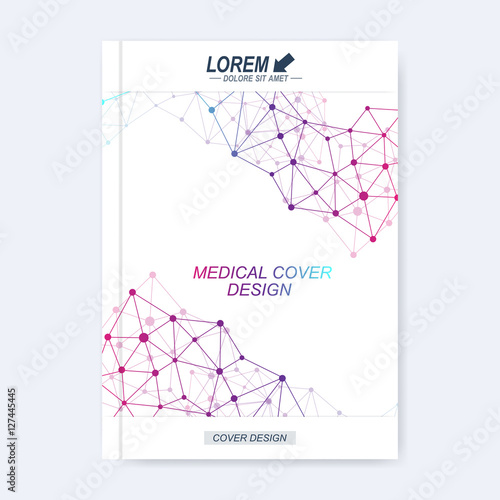 Science Book Cover Template : Quot modern vector template for brochure leaflet flyer