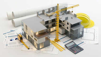 Fototapeta Apartment construction obraz