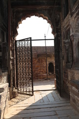 Entrance of thousand years old Narwar Fort, Shivpuri, India lies at a height of 500 feet above sea level, now in a dilapidated condition but the remains indicates its flourishing days.