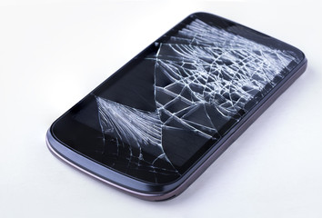 Broken cellphone screen