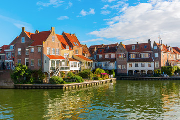 picturesque scene in Enkhuizen, Netherland