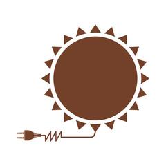 sun energy icon image vector illustration design