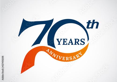 Template logo th anniversary years logo vector illustration