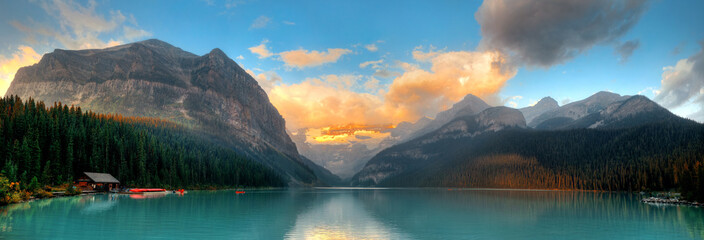 Canvas Prints Blue Banff National Park panorama