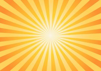 orange-yellow color burst background. -Vector illustration Fototapete