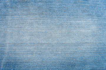 Close up image of blue denim jeans background or texture.