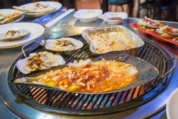 Grill shells bbq in korea style