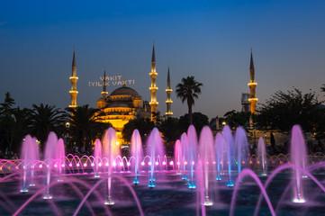 Sultan Ahmet Mosque on sunset