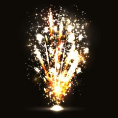 Vector illustration. Fireworks on a dark background