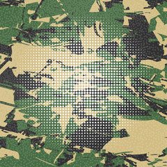 Vector army camouflage background green.