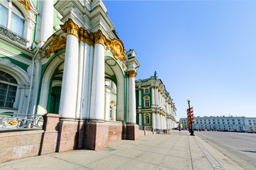 Saint-Petersburg, Russia - May 13, 2006: Palace Square, Hermitage Museum