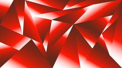 Abstract geometric background of glowing red & white triangle shapes. HD widescreen desktop wallpaper.