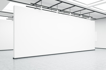 Empty exhibition hall wall