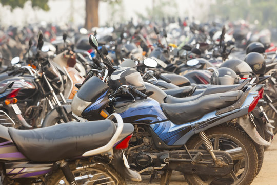 India motorcycle parking