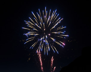 Fireworks at Lecco (Italy)